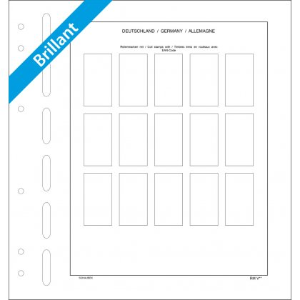 Sheet for coil stamps Germany (gummed) 15 spaces, each...
